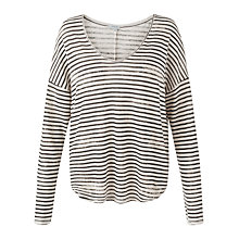 Buy Jigsaw Linen Stripe Relaxed Top Online at johnlewis.com