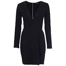 Buy French Connection Valentine Pleated Jersey Dress, Black Online at johnlewis.com