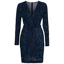 Buy French Connection Soho Boa Jersey Dress, Black Multi Online at johnlewis.com