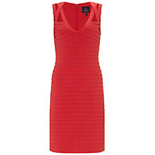 Buy Adrianna Papell Banded Cut Away Dress, Flame Online at johnlewis.com