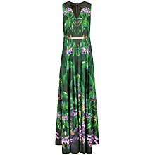 Buy Ted Baker Azelma Patterned Paradise Maxi Dress, Olive Online at johnlewis.com