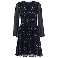 Buy French Connection Million Stars Embellished Dress, Nocturnal / Bronze Online at johnlewis.com