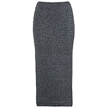 Buy French Connection Bianca Lurex Midi Skirt, Black Online at johnlewis.com