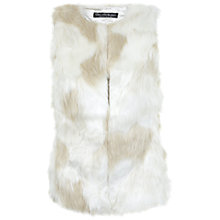 Buy Miss Selfridge Patchwork Faux Fur Gilet, Cream Online at johnlewis.com