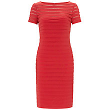 Buy Adrianna Papell Partial Tuck Dress, Flame Online at johnlewis.com