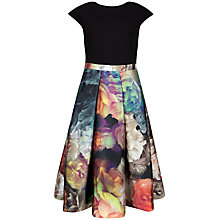 Buy Ted Baker Eana Technicolour Bloom Skirt Dress, Black Online at johnlewis.com