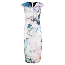 Buy Ted Baker Amily Tile Floral Geo Midi Dress, Navy Online at johnlewis.com
