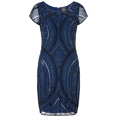 Adrianna Papell Beaded Cocktail Dress Twilight £240.00 AT vintagedancer.com