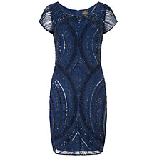 Buy Adrianna Papell Beaded Cocktail Dress, Twilight Online at johnlewis.com