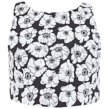 Buy Miss Selfridge Petite Jacquard Crop Top, Black / White Online at johnlewis.com
