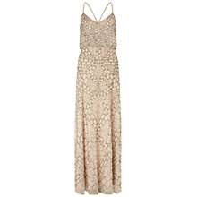 Buy Adrianna Papell Sleeveless Beaded Blouson Dress, Nude Online at johnlewis.com