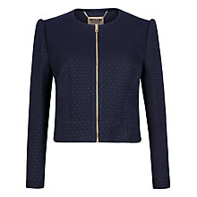 Buy Ted Baker Zumia Metallic Dot Suit Jacket, Navy Online at johnlewis.com