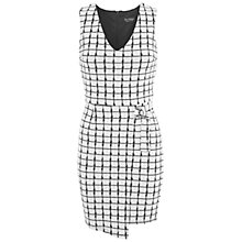 Buy Miss Selfridge Checked Wrap D Ring Dress, Multi Online at johnlewis.com