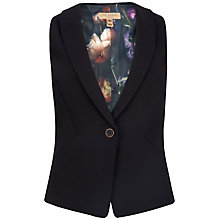 Buy Ted Baker Techno Crepe Waiscoat, Black Online at johnlewis.com