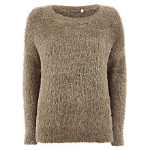 Buy Mint Velvet Metallic Boxy Jumper, Metallic Online at johnlewis.com