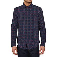 Buy Original Penguin Bosket Long Sleeve Shirt, Dark Sapphire Online at johnlewis.com