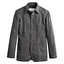 Buy Private White V.C. Knitted Shacket, Charcoal Online at johnlewis.com