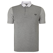 Buy Fred Perry Pique Texture Polo Top, Steel Marl Online at johnlewis.com
