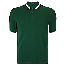 Buy Fred Perry Texture Bold Twin Tipped Polo Shirt, Ivy Online at johnlewis.com