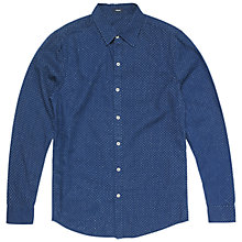 Buy Denham Ellis Dot Shirt, Indigo Online at johnlewis.com