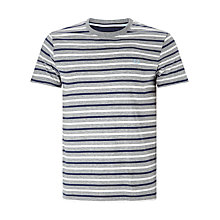 Buy Fred Perry Bretton Stripe T-Shirt, Steel Marl Online at johnlewis.com
