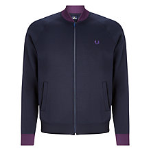 Buy Fred Perry Contrast Bomber Jacket, Navy Online at johnlewis.com