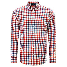 Buy Gant Match Point Check Button Down Collar Shirt, Red Online at johnlewis.com