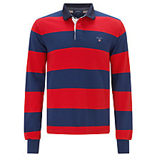 Buy Gant Bar Stripe Jersey Rugby Top Online at johnlewis.com
