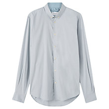 Buy Jigsaw Stretch Poplin Shirt, Dusky Blue Online at johnlewis.com
