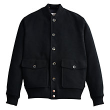 Buy Private White V.C. Moleskin Bomber Jacket, Black Online at johnlewis.com