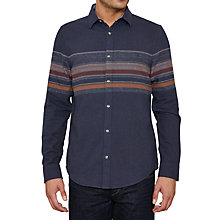 Buy Original Penguin Plateau Long Sleeve Shirt, Dark Denim Online at johnlewis.com