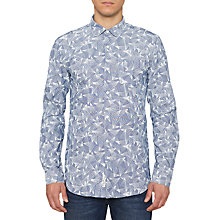 Buy Original Penguin Chambray Print Shirt, Dark Sapphire Online at johnlewis.com