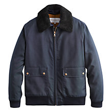 Buy Private White Vc Pilots Bomber Jacket, Navy Online at johnlewis.com