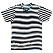 Buy Denham Signature Crew T-shirt, Indigo Online at johnlewis.com