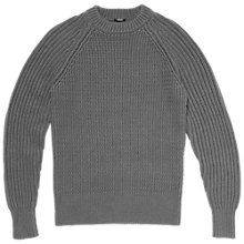 Buy Denham Crag Cotton Rich Jumper, Charcoal Online at johnlewis.com