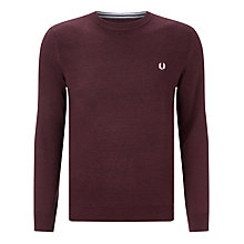 Buy Fred Perry Merino Textured Crew Jumper Online at johnlewis.com