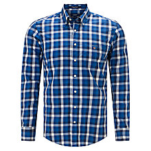 Buy Gant Tie Break Poplin Check Shirt, Yale Blue Online at johnlewis.com