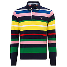 Buy Gant Multi Stripe Jersey Top, Marine Online at johnlewis.com
