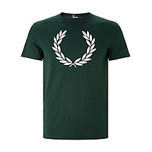 Buy Fred Perry Textured Laurel T-Shirt, Ivy Online at johnlewis.com
