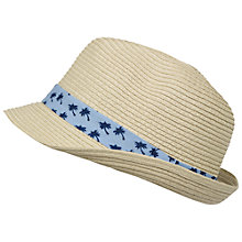 Buy Fat Face Children's Palm Print Trilby, Natural Online at johnlewis.com