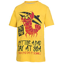 Buy Fat Face Boys' Lobster T-Shirt, Yellow Online at johnlewis.com