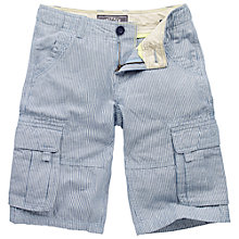 Buy Fat Face Boys' Ticking Stripe Cargo Short, Blue Online at johnlewis.com
