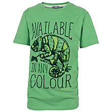 Buy Fat Face Boys' Chameleon T-Shirt, Green Online at johnlewis.com