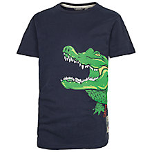 Buy Fat Face Boys' Snap Happy Alligator T-Shirt, Navy Online at johnlewis.com