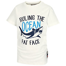 Buy Fat Face Boys' Ruling the Ocean T-Shirt, White Online at johnlewis.com