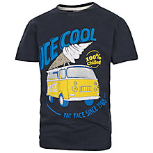 Buy Fat Face Boys' Cool Campervan T-Shirt, Navy Online at johnlewis.com