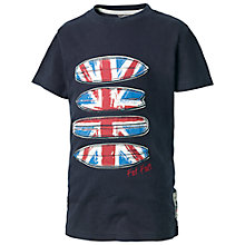 Buy Fat Face Boys' Union Jack Surfer T-Shirt, Navy Online at johnlewis.com