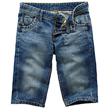 Buy Fat Face Boys' Five Pocket Denim Shorts, Blue Online at johnlewis.com