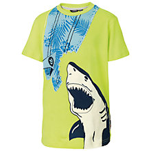 Buy Fat Face Boys' Shark Surfboard T-Shirt, Lime Online at johnlewis.com