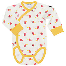 Buy Polarn O. Pyret Baby Beaver Bodysuit, Yellow Online at johnlewis.com